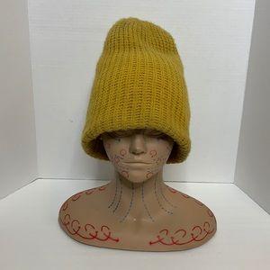 Mustard Yellow Large Knit Cap   Dread Head Cap